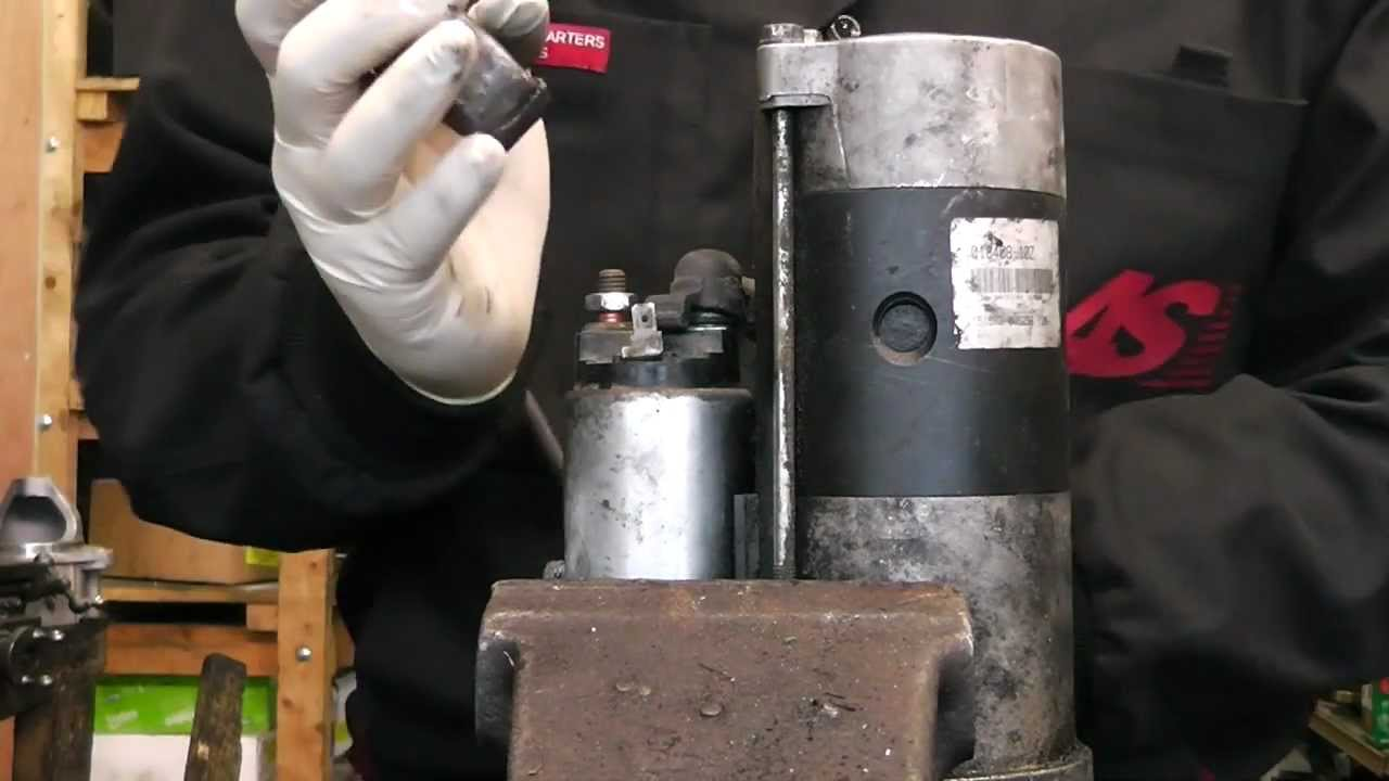 Ремонт стартера на тисках