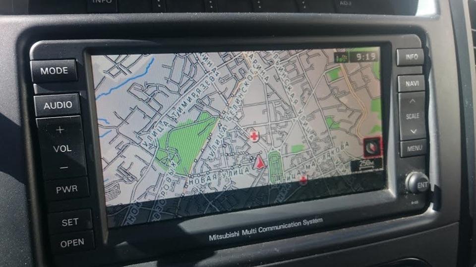 Карты для навигации мицубиси паджеро