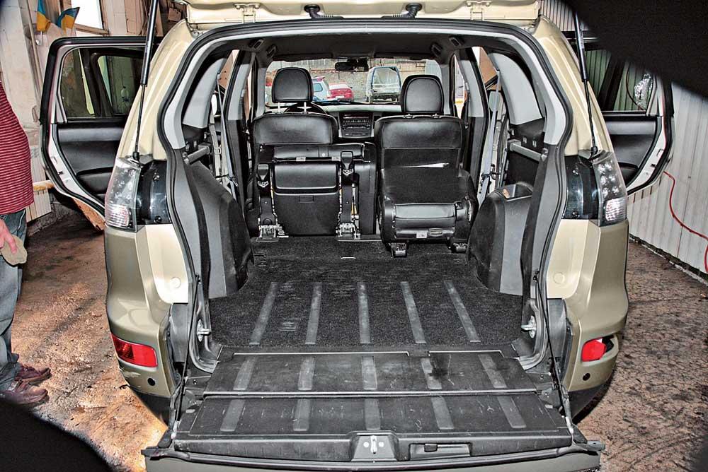 Митсубиси аутлендер объем багажника